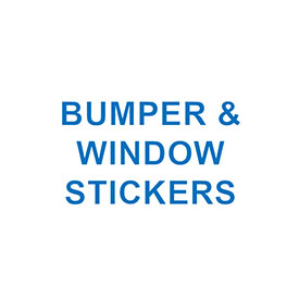BUMPER & WINDOW STICKERS